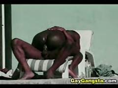 Black Men Outdoor Anal Sex