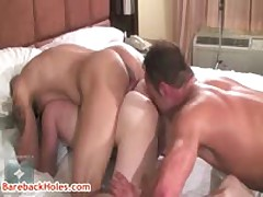 Damian Rod Gets Rimmed By Trevor And Chris 3 By Barebackholes