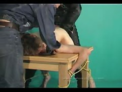 Two Sexy Masters Play With Slave And Use Them For Pleasure