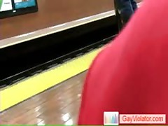 Guy Getting Hammered In Subway By Gayviolator