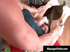 Calvin Gets His Hard Cock Rubbed Hard During Massage 2 By MassageVictim