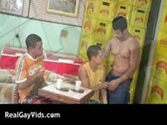 Awesome Latino Gay Hunks Threesome Hardcore 3 By RealGayVids