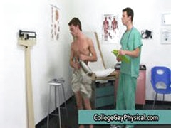 Aaron Gets His Nice Cock Examined 2 By CollegeGayPhysical