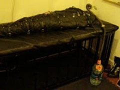 Mummification In Leather Sleepbag
