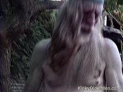 Older Hippie Takes An Ass Pounding