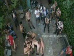 Gay Man In Leather Leish Getting Fucked In Gay Sado Maso Dirty Gang Bang