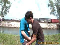 Young Gays Have Some Outdoor Anus Fucking 2 By Outincrowd