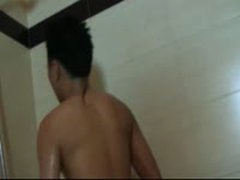 Cute Gil Plays In The Shower