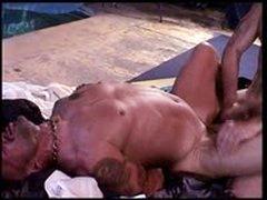 Hot Muscle Dude Tony Buff Is Bashing Derek Da Silva'S Balls.