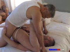 Two Older Guys Fuckin A Jock