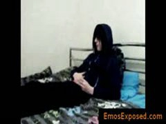 Teenage Gay Emo Wanking His Dick On Bed By Emosexposed