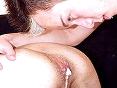 Threesome Gay Anal Fucking And Cum Felching