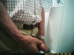 Urinal voyeur jerk video consider