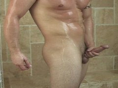 Hard Dick Naked In The Shower