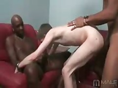 White Boy Gets Oreod By Huge Black Cocks